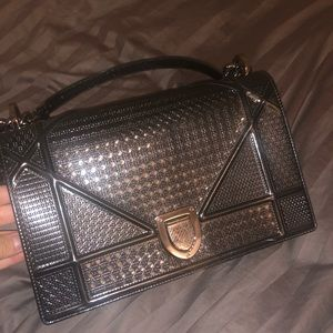 Christian Dior metallic bag